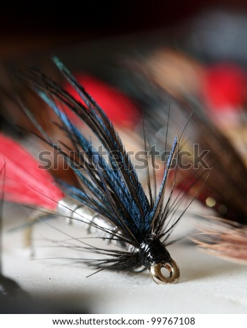 Butcher - Artificial fly used for trout fishing.