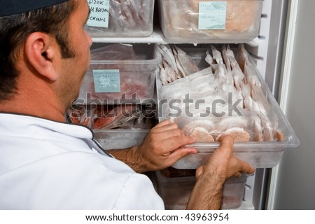 Butcher show us frozen workpieces