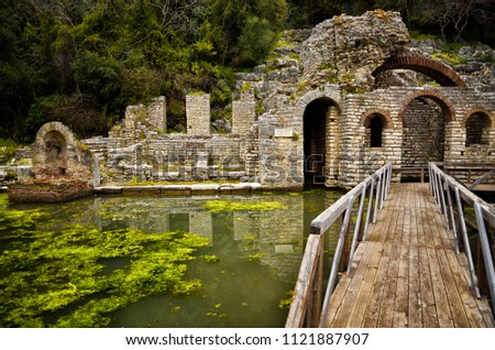 Butrint is the Albania's major archaeological centers and is protected under UNESCO as a World Heritage Site. The ancient town has been built on Ksamil Peninsula