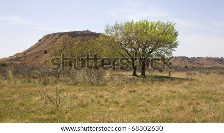 butte in the northwest corner of Oklahoma