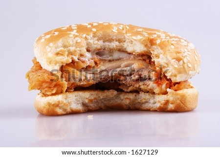 butten burger close up