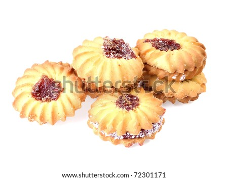 butter biscuits isolated on a white background