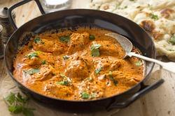 Butter chicken curry. Murgh makhani with tender chicken breast, cream, butter & honey.