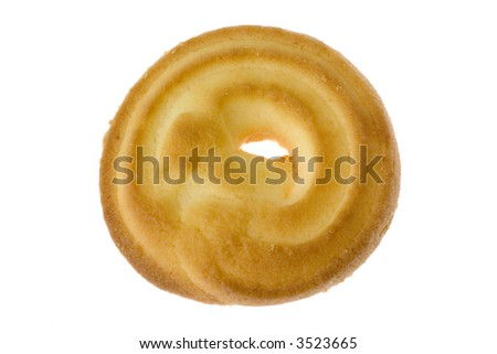 Butter cookie isolated on white background