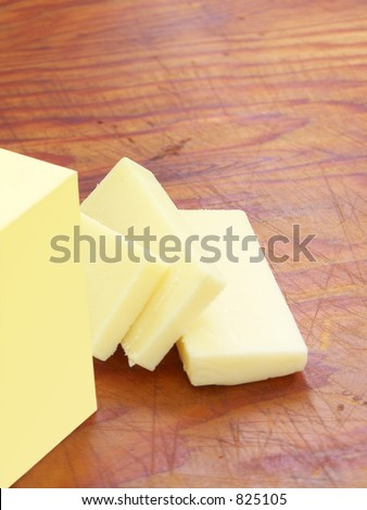 Butter on wood.