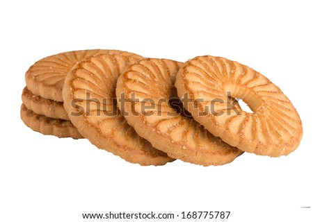 Butter pastry isolated on white background