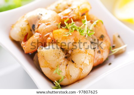 butter prawn with garlic