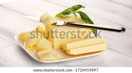 butter swirls. margarine or spread, fatty natural dairy product. High-calorie food for cooking and eating