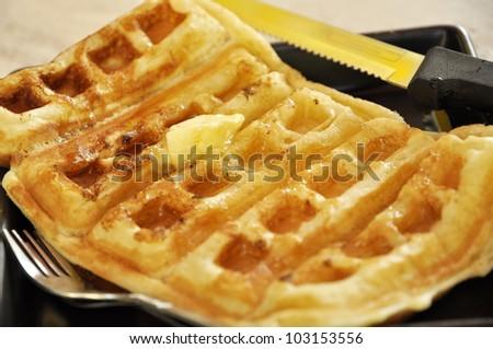 Butter Waffle Dish Breakfast Set