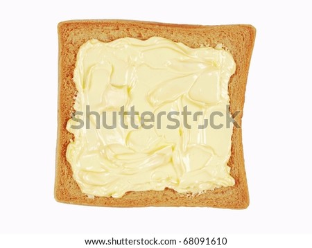 buttered bread - stock photo
