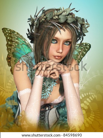 stock photo : Butterfly Girl