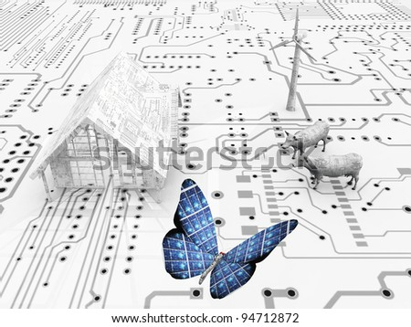 Butterfly in an electronic world