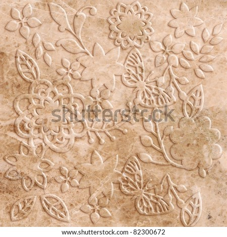 butterfly stone decor