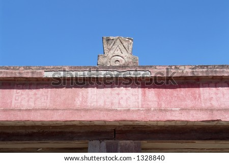 Butterfly temple roof detail