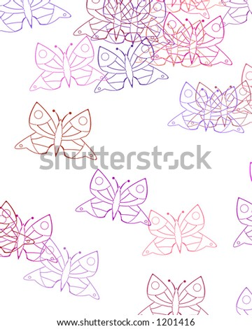 Butterfly Texture Background - stock photo