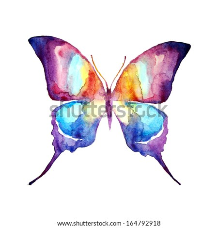 Abstract Butterfly Watercolor Butterfly Watercolor Design