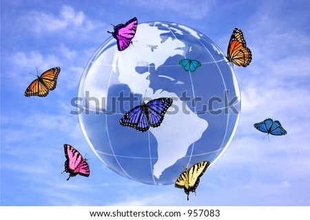 butterfly world (peace concept)