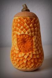 Butternut Pumpkin Thai fruit carving
