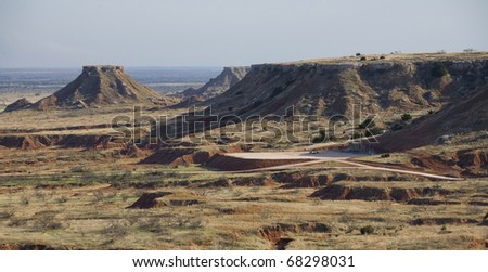 buttes in a remote region of northwest Oklahoma