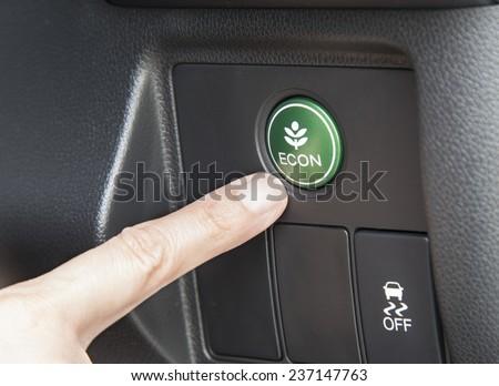 button Economic in car