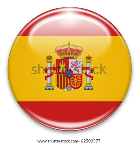 Button Fahne Flagge Spanien