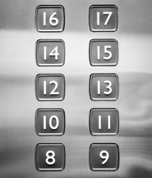 button of elevator