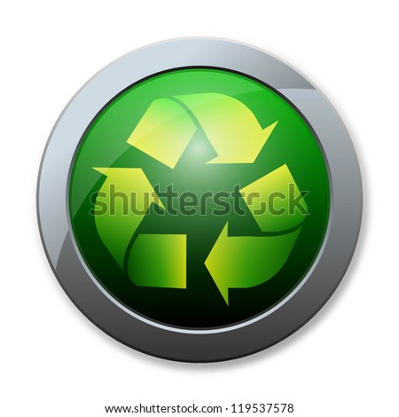 Button of recycle icon
