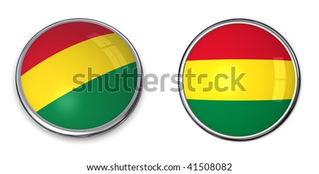button style banner in 3D of Bolivia