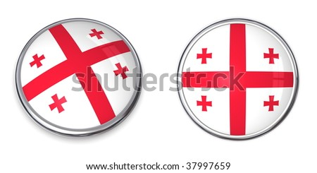 button style banner in 3D of Georgia