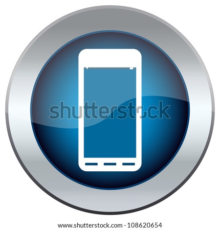 Button with a picture of the handset