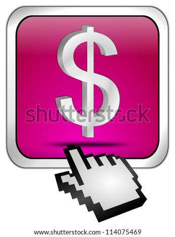 Button with Dollar sign with Cursor