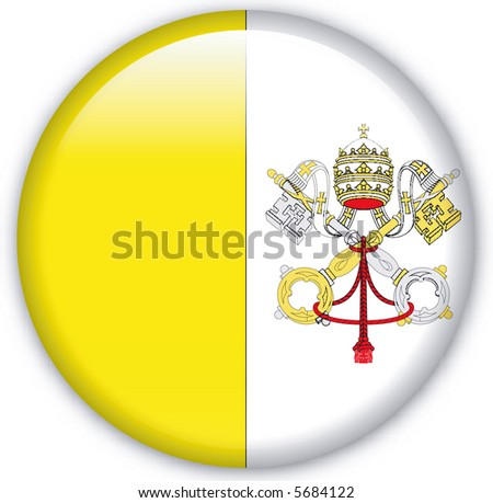 Button with map from Vatican