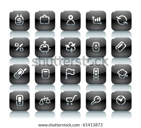 Buttons for business. Icons for websites and interface elements. Raster version. For vector version of this image, see my portfolio.