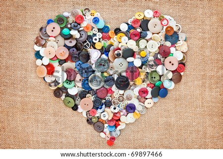 buttons heart. Valentine's Day