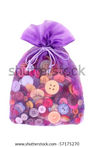 Buttons in bag