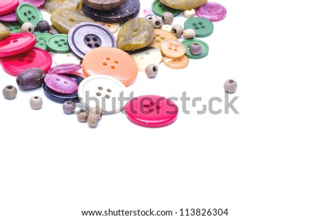 Buttons in different colors on a white background.