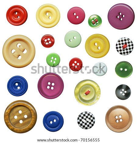 Buttons in the collection of isolated #70156555