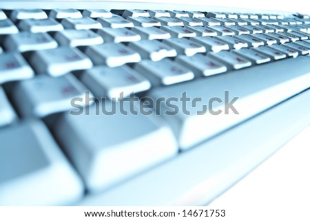 buttons on keyboard of the personal computer