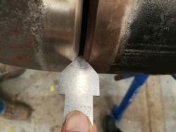 Buttweld joint configuration single V- Groove will be preparation bevel end, angle,  and preheating, temperature check before fit-up of piping work, and then root opening check by the inspector.