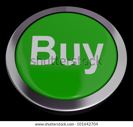 Buy Button For Commerce Or Retail Purchasing Online