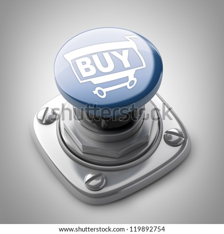 BUY button High resolution. 3D image