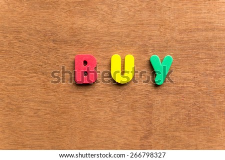 buy colorful word on the wooden background #266798327
