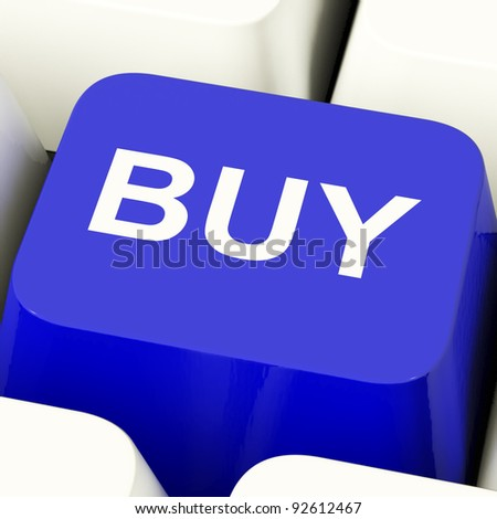 Buy Computer Key In Blue For Commerce Or Retail Stores