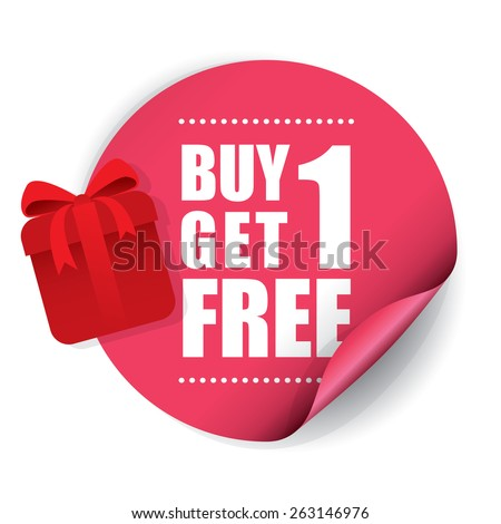Buy 1 Get 1 Free Sticker and Tag with Gift Box - Pink