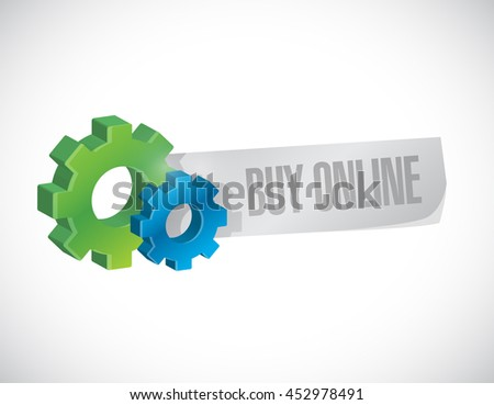 buy online industrial gear sign illustration design graphic