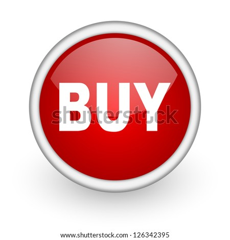 buy red circle web icon on white background