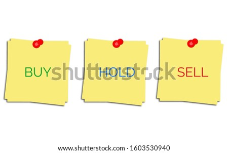 Buy Sell Hold. Buy Sell Hold icons used in stock market or financial market.