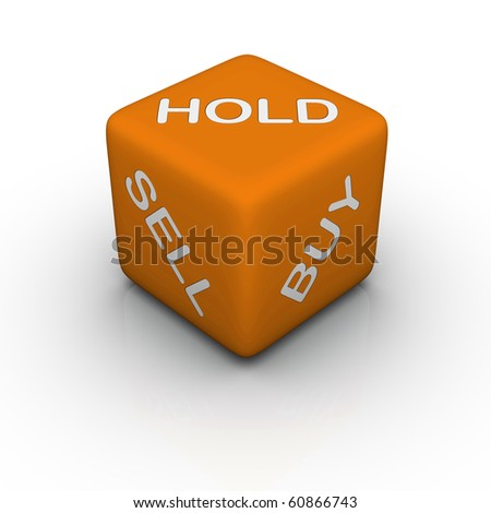 buy, sell, hold (colorful cubes words series)