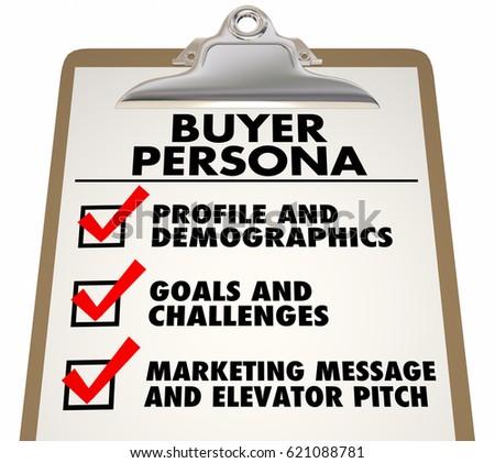 Shutterstock Buyer Persona Clipboard Checklist Customer Profile 3d Illustration