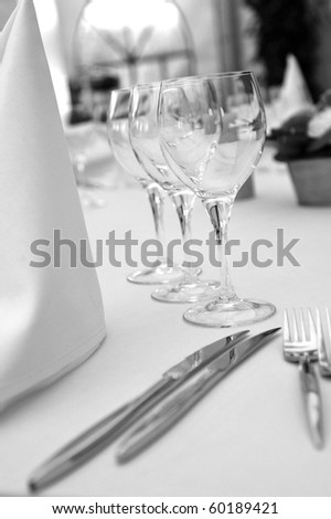 BW catering table